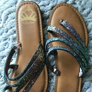 Multicolors glitter sandals ✨